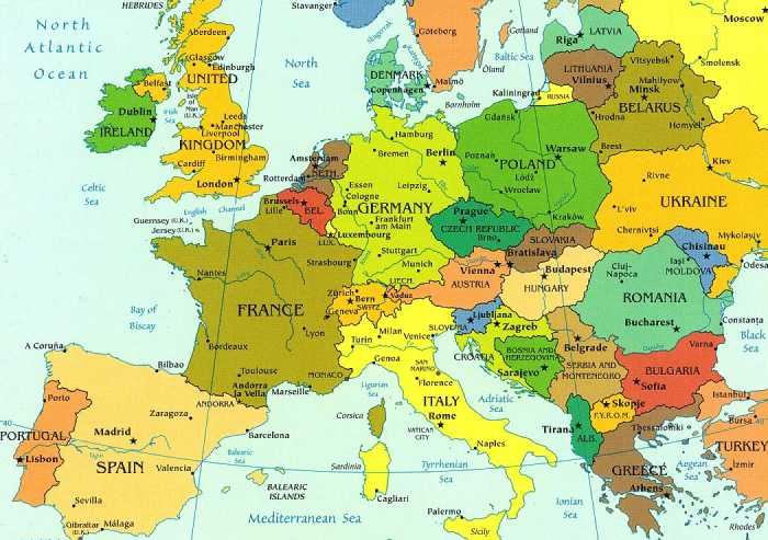 In omaggio la mappa dell'Europa