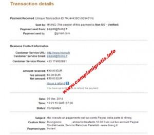 hiving prova pagamento 1 campionigratis.info