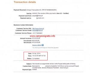 hiving prova pagamento 2 campionigratis.info