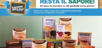 Buoni sconto prodotti senza glutine San Martino