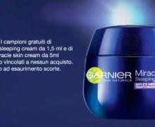 Campione omaggio Miracle Sleeping Cream Garnier
