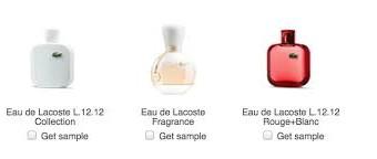 Campioni omaggio profumo Lacoste?
