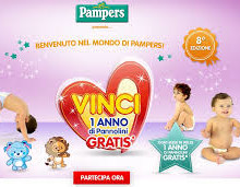 Un anno di pannolini Pampers gratis
