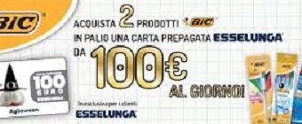 Bic regala buoni Esselunga da 100 euro