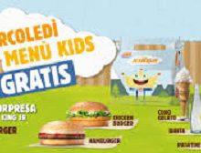 Burger King: mercoledì menu kids gratis