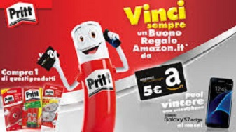 Pritt regala buono Amazon da 5 euro!