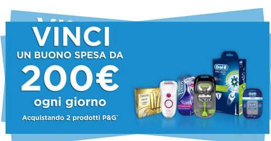 Buono spesa 200 euro: P&G te ne regala uno ogni giorno
