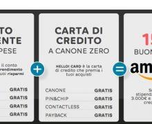 Buono Amazon da 150 euro con Hello Bank