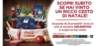 Concorso Coca Cola e Conad: vinci cesto di Natale