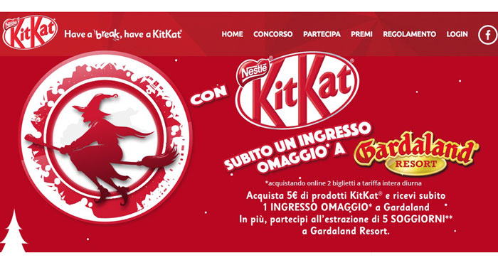 Concorso KitKat: vinci ingresso a Gardaland