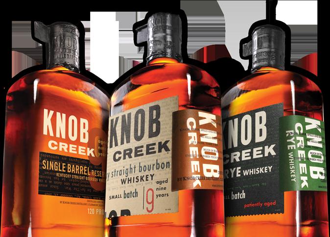 Knob Creek etichette in regalo