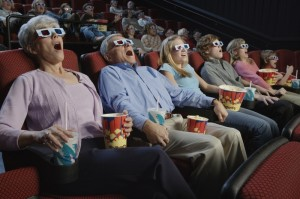 People Watching 3-Dimensional Movie