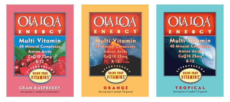 Campioni gratis integratori vitaminici Ola Loa