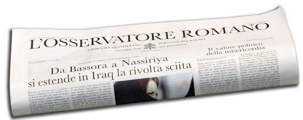 Copie omaggio settimanale L'Osservatore Romano