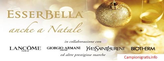 Addobbo natalizio e campioncini di cosmetici in omaggio!