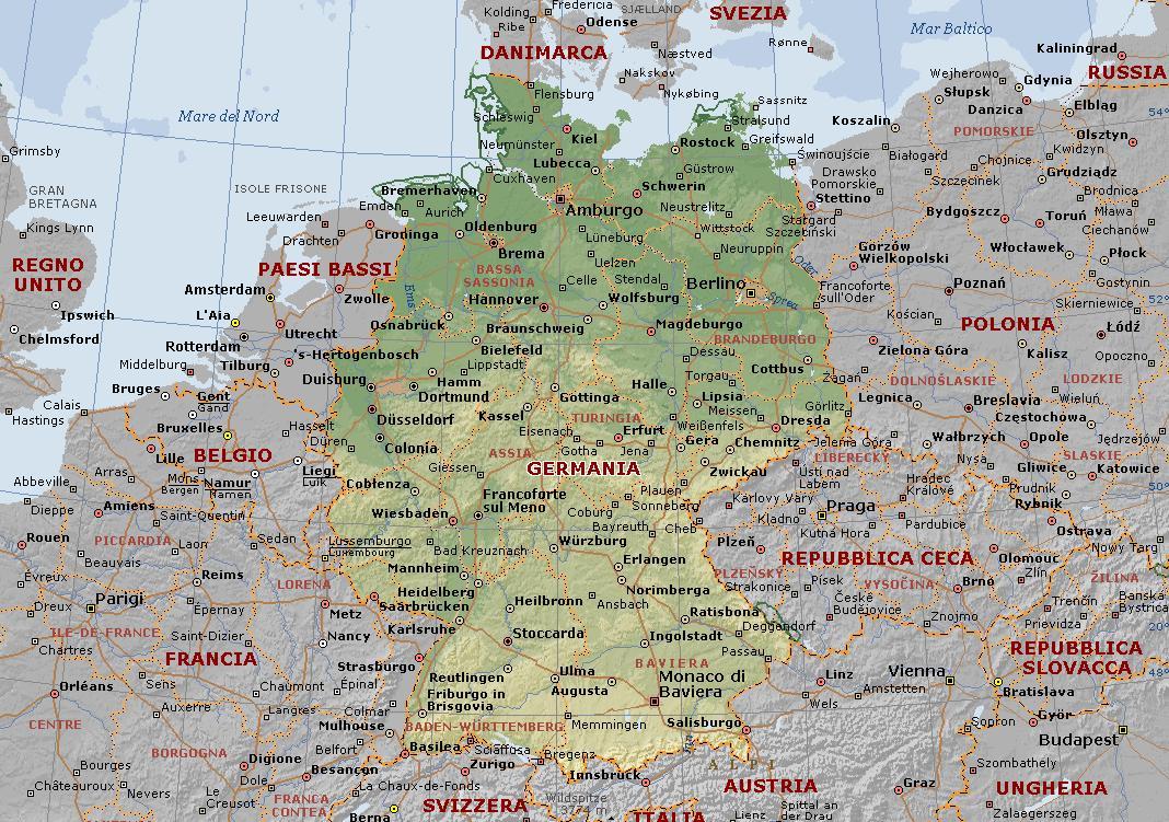 Mappa della Germania in regalo