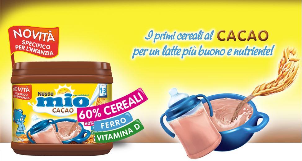 Campione omaggio Nestle Mio Cacao da Iper