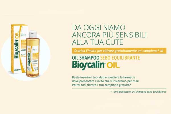 Prova Bioscalin Oil con un campione omaggio