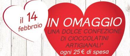 Cioccolatini San Valentino gratis da Tigotà e Acqua e Sapone