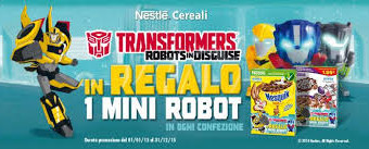 Nesquik regala i Transformers