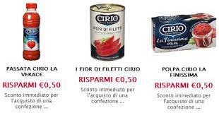 Buoni sconti Cirio: tutti i prodotti in sconto