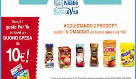 Vinci buono sconto di 10 euro con Nesquik, Nescafè e Orzoro