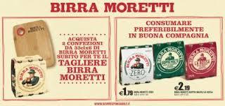 Tagliere in omaggio con birra Moretti