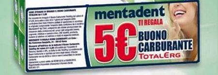 Mentadent regala 5 euro TotalErg