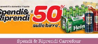 Carrefour: spendi e riprendi sulle birre