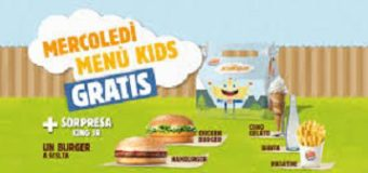 Burger King: mercoledì menu kids gratis