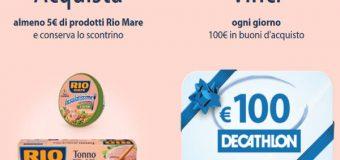 Vivi Leggero Rio Mare regala buoni Decathlon da 100 euro