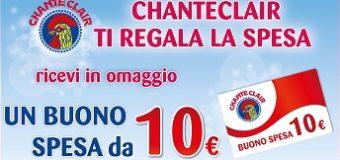 Buono spesa da 10 euro con Chante Clair