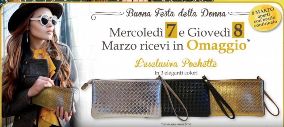 Festa della Donna La Saponeria: pochette in regalo