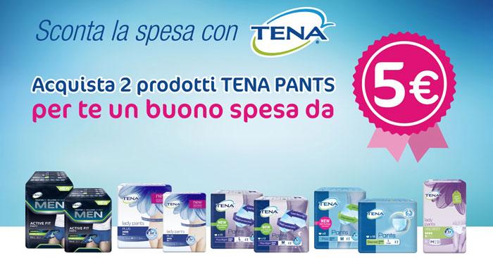 Concorso Tena Pants: come ottenere buono da 5 euro