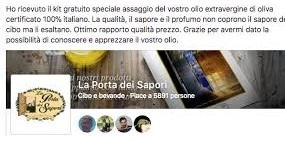 Assaggio gratuito Olio Extra Vergine di Oliva La Porta dei Sapori